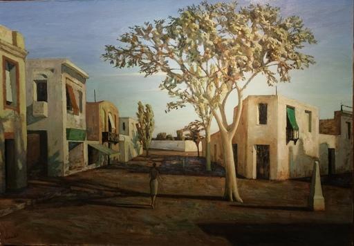 Pascal VINARDEL - Pintura - La rue à l'arbre