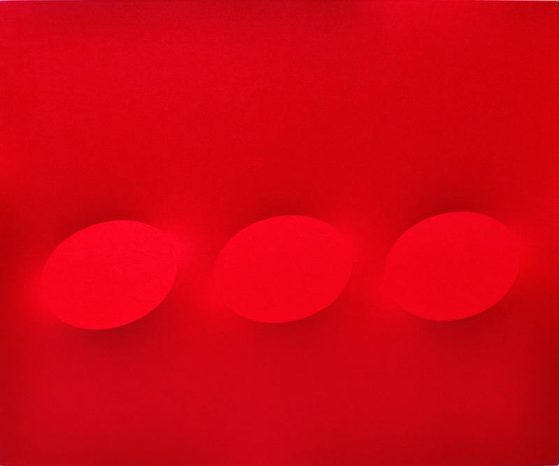 Turi SIMETI - Peinture - 3 ovali rossi