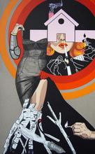 Myriam BAUDIN - Peinture - Une vraie flamme