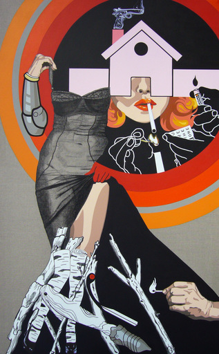 Myriam BAUDIN - Pittura - Une vraie flamme