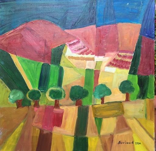 Christian DURIAUD - Pintura - La montagne rouge
