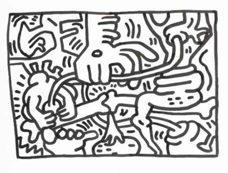 Keith HARING - Dessin-Aquarelle - Untitled