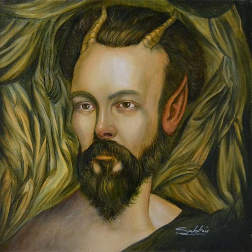 Carlos SABLÓN - Pittura - Tête de Satyre
