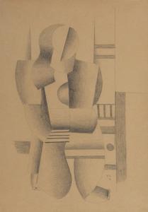 """Fernand LÉGER - Disegno Acquarello - Etude pour """"Femme à genoux"""""""