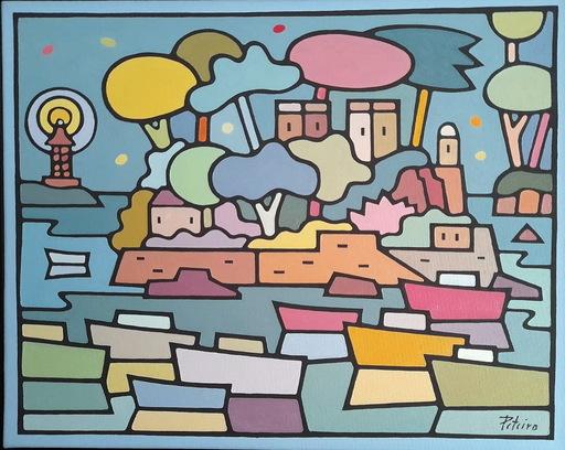 Jorge PETEIRO - Gemälde - CASTILLO DE SANTA CRUZ Y TORRE DE HERCULES