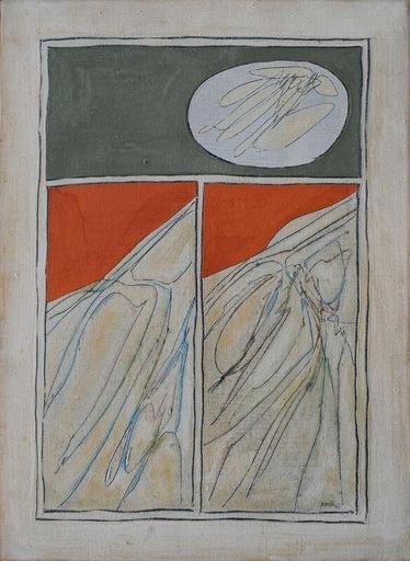 Achille PERILLI - Peinture - La linea rossa