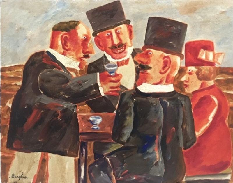Franz BORGHESE - Peinture - La colazione