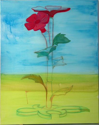 Martin MANNIG - Painting - Blume / Flower