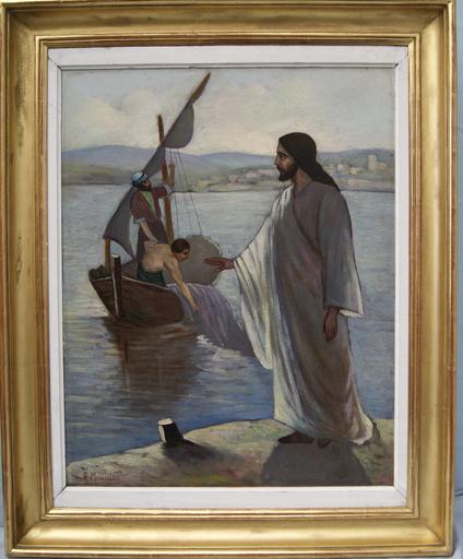 ARMISS - Pintura - Christ et les pêcheurs. Lac de Genésareth
