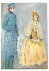 """Mikhail LARIONOV - Painting - """"Au service de Madam"""""""