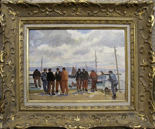 Paul MORCHAIN - Pintura - Matin à Douarnenez
