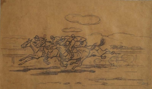 "Ferdinand MAY - Dibujo Acuarela - ""Race"" by Ferdinand May, ca 1930"