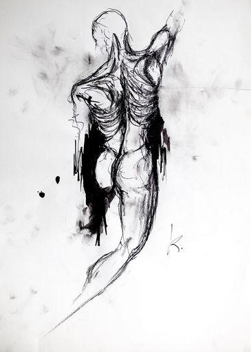 Guillaume KALT - Dibujo Acuarela - Oedipe    (Cat N° 6154)