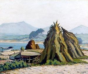 Abelardo BUSTAMANTE ALVARADO - Painting - paisaje samil