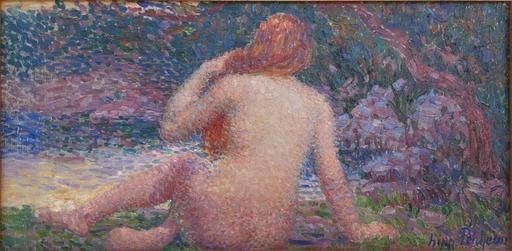 Hippolyte PETITJEAN - Painting - Baigneuse nue de dos