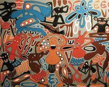 George LILANGA - Peinture - Mamboya watu kazi