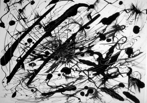 Didier ANGELS - Peinture - Série Noire 008