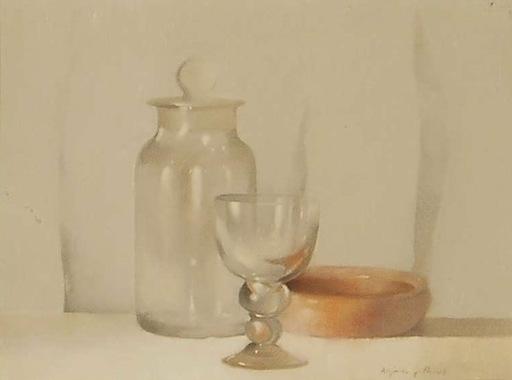 Alejandro GONZALEZ PASCUAL - Gemälde - bodegón con copas
