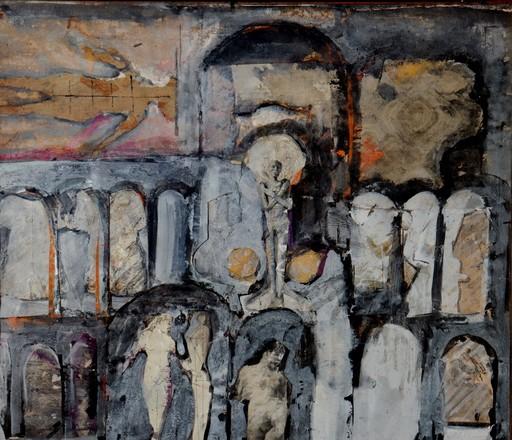 """Don BAUM - Pintura - """"CAISSON/ASSEMBLAGE SURREALISTE A LA MOMIE"""""""