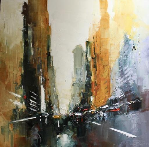Daniel CASTAN - Peinture - Black Koreatown