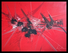 """Georges MATHIEU - Pintura -  """"HOMMAGE INOUBLIABLE"""""""