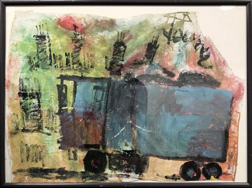 珀维斯·扬 - 绘画 - The Blue Truck