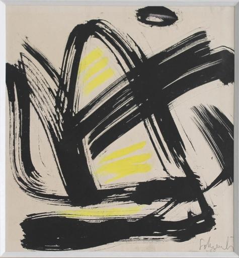 Gérard SCHNEIDER - Dibujo Acuarela - Composition