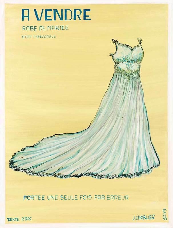 Jacques CHARLIER - Pittura - Robe de mariée, série Pierre Dac