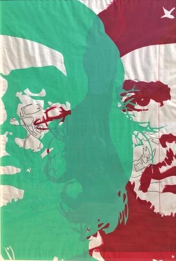 Bernard RANCILLAC - Dibujo Acuarela - Guevara + che