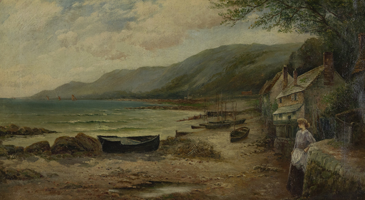 Ernest Charles WALBOURN - Gemälde - Waiting for the Boats