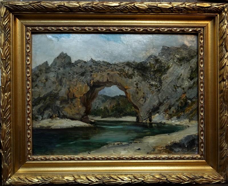 Raphaël Luc PONSON - Painting - Vallon Pont d'Arc