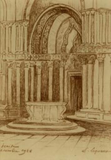 Émile LEQUEUX - Dibujo Acuarela - Venise