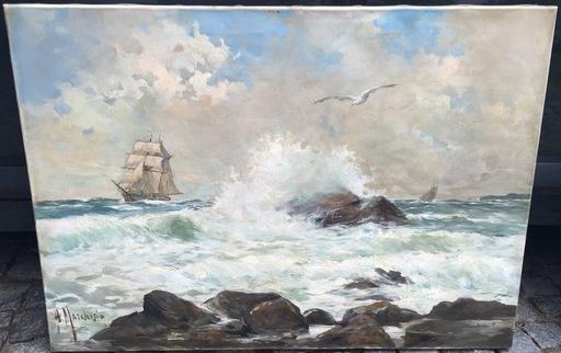 Andrea MARCHISIO - Painting - Escena Marina