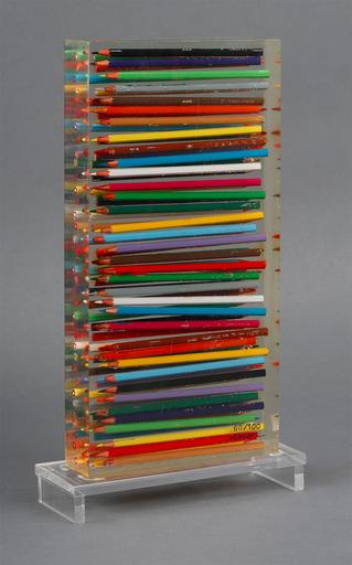 Fernandez ARMAN - Escultura - Crayons Couleurs Accumulation