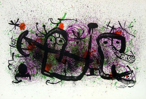 胡安·米罗 - 版画 - Ma de Proverbis