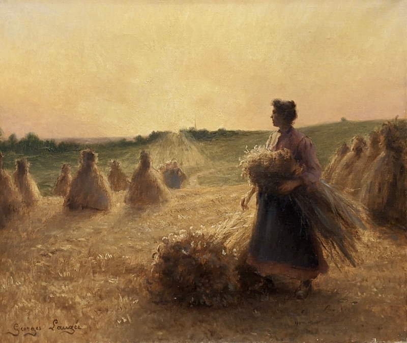Georges François Paul LAUGÉE - Painting - The Gleaners
