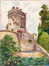 Francisque RABERAIN - Drawing-Watercolor - CAEN LA TOUR