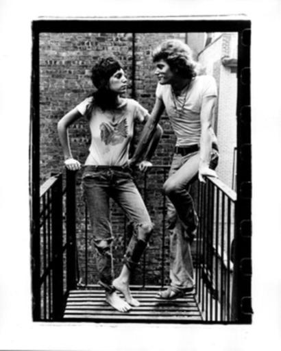 Gérard MALANGA - Photography - Patti Smith & Robert Mapplethorpe facing off, NYC