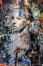 Cédric BOUTEILLER - Peinture - Kate Iconic Bleue