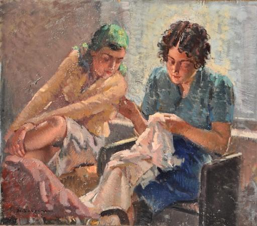Arcangelo SALVARANI - Gemälde - Ricamatrici