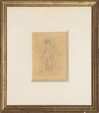 Pierre BONNARD - Drawing-Watercolor - Nu à la toilette