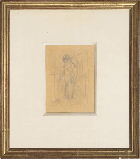 Pierre BONNARD - Disegno Acquarello - Nu à la toilette