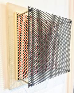 Antonio ASIS - Painting - Vibrations sur 4 cercles noirs et rouges