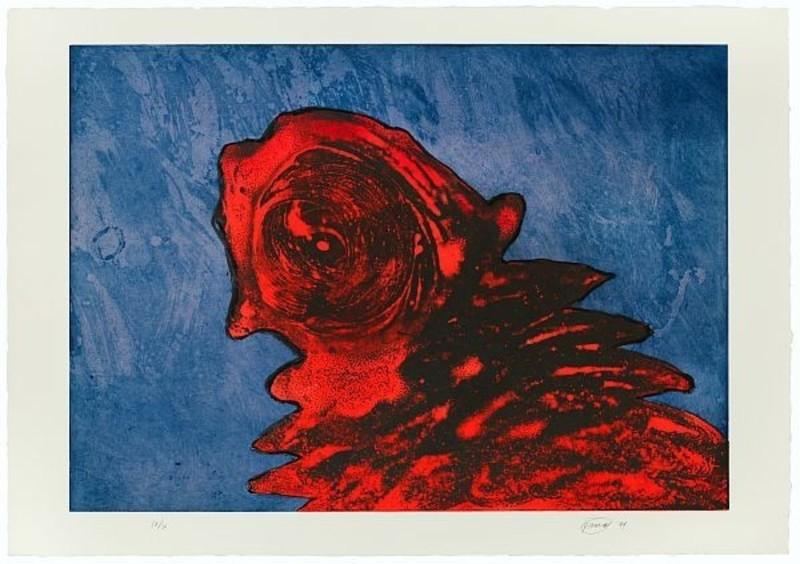 Otto PIENE - Print-Multiple - Zyklop Rot