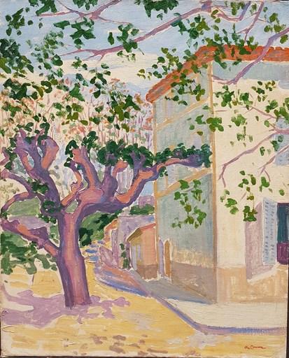 Augustin CARRERA - Pintura - La place du village