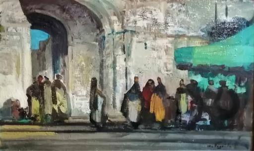 Marcel FEGUIDE - Painting - La tente verte