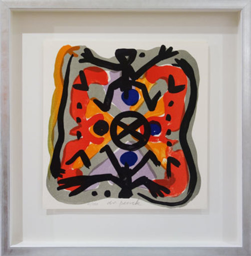 A.R. PENCK - Estampe-Multiple - Oben wie unten - Above Like Below