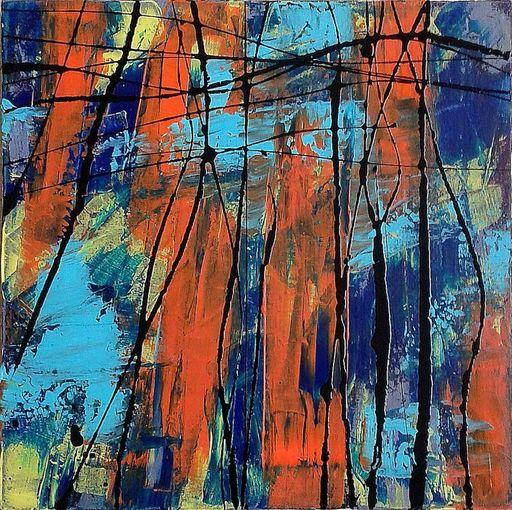 Marie Edmée SEGUIN - Painting - La nuit des temps N°23