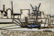 Claude VENARD - Peinture - Vue sur le port