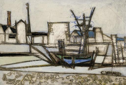 Claude VENARD - Painting - Vue sur le port